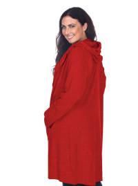 North Long Sleeve Hoodie Cardigan - Plus - Back