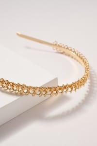 Braided Metal Headband - Gold - Back