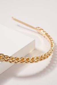 Chain Linked Headband - Gold - Back