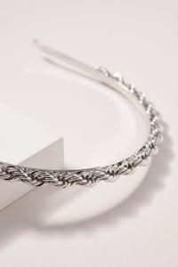 Twisted Metal Headband - Rhodium - Back