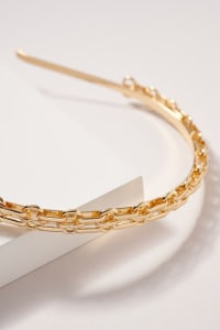 Twisted Metal Head Band - Gold - Back