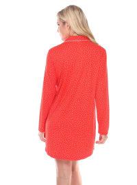 Long Sleeve Sleep Nightgown Shirt - Back