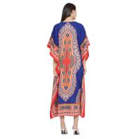 Long Handmade Paisley Kaftan Dress - Back