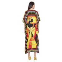 Tribal Lady Kaftan - Multicolor - Back