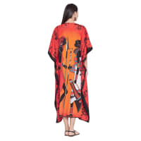 Tribal Printed Kaftan - Multicolor - Back