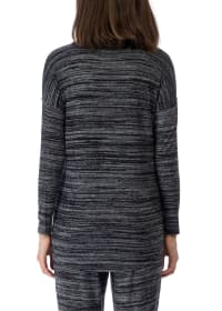 Long Sleeve V-Neck Pullover Top - Back