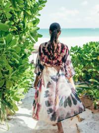 Goddess Kimono in Pink Tie-Dye - Pink - Back