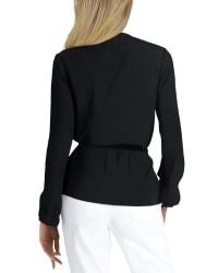 Gigi Parker Long Sleeves Smocked Shoulder Blouse - Back