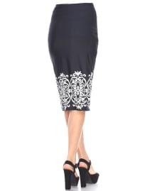 Cynthia Midi Pencil Skirt - Back