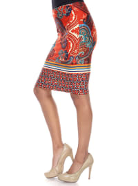 Pretty and Proper Fitted Print Pencil Skirt - Back