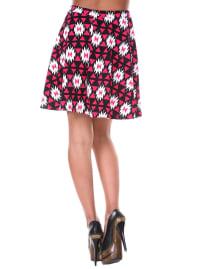 Heidi Triangle Flared Mini Skirt - Back