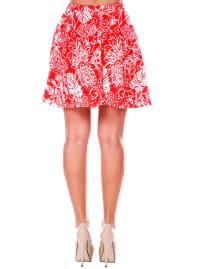 Heidi Leaf Flared Mini Skirt - Back