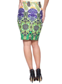 Knee Length Fitted Pencil Skirt - Back