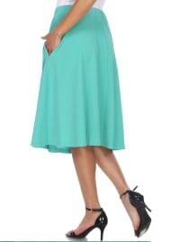 Saya Lightweight Flared Skirt - Back
