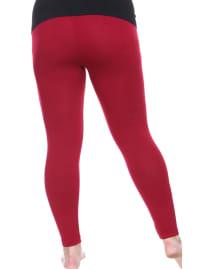 Super Stretch Solid Soft Leggings - Plus - Back