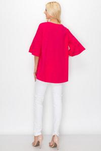 Kristina Knit Top - Fushia - Back