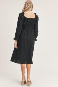 Emery Woven Dress - Black - Back