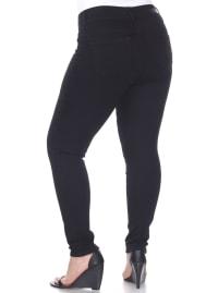 Super Stretch Faux Front Denim Pants - Plus - Back