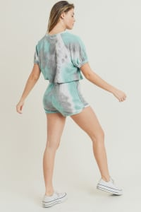 Tie Dye Lounge Set - Aqua Blue - Back