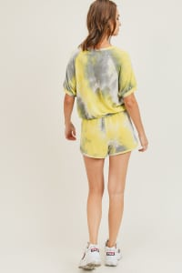 Tie Dye Lounge Set - Lemon - Back