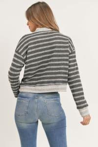 Lovely Pullover - Black Stripe - Back