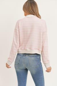 Lovely Pullover - Pink Stripe - Back