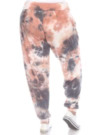 Tie Dye Relaxed Fit Harem Pants - Plus - Pink - Back