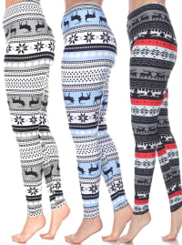 Pack of 3 Form Fitting Soft Leggings - Plus - Back