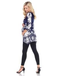 Maternity Three Quarter Sleeves Ganette Tunic - Back