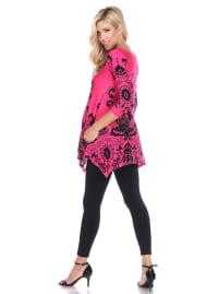 Maternity Three Quarter Sleeves Ganette Tunic - Plus - Back
