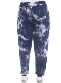 Tie Dye Relaxed Fit Harem Pants - Plus - Navy - Back