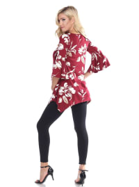 Bell Sleeves Maternity Roche Tunic - Plus - Back