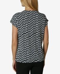 Short Sleeve Dolman Blouse - Abstract Diamond - Back