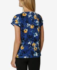 Short Sleeve Dolman Blouse - Water Color Flower Garden - Back