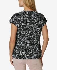 Short Sleeve Dolman Blouse - Freesia Floral - Back