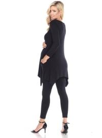 Three Quarter Sleeves Maternity Kayla Tunic - Back