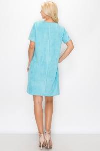 Audrey Short Sleeve V-Neck Dress - Back