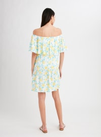 Stella Parker Cecilia Off the Shoulder Drop Waist Dress - Lemon Season - Back