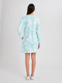 Stella Parker Hazel Zip Neck Dress - Misty Field - Back