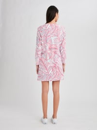 Stella Parker Hazel Zip Neck Dress - Mythical Palm - Back