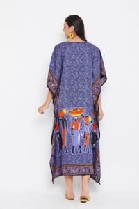 Luxurious Kimono Loose Kaftan - Plus - Back