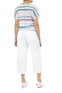 Zac & Rachel Stripe Button Front Knit Top - Watercolor Stripe - Back