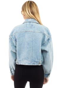 26 International Cropped Oversized Denim Jacket - Back