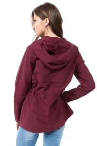 Zipper Nylon Anorak Jacket - Back