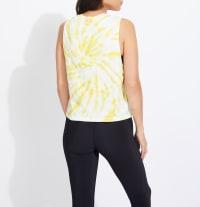 Sage Audrey Seamless Tie Dye Tank Top - Back