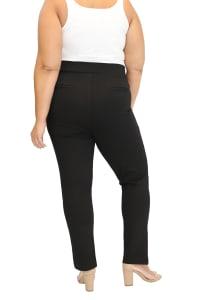 Maree Pour Toi Slit Front Compression Pant - Plus - Back