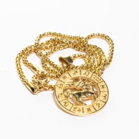 Dell Arte by Jean Claude Sagittarius Zodiac Sign Pendants Necklace - Back