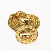 Dell Arte by Jean Claude Capricorn Zodiac Sign Pendant Necklace - Back