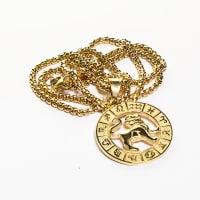 Dell Arte by Jean Claude Lion Zodiac Sign Pendants Necklace - Back