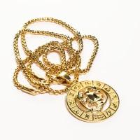 Dell Arte by Jean Claude Cancer Zodiac Sign Pendants Necklace - Back